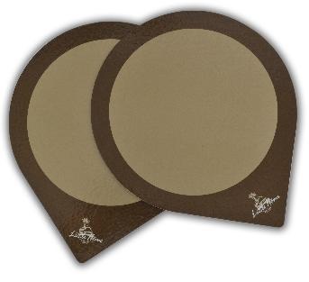 แผ่นรองเค้ก สำหรับวางเค้กขนาด 3 ปอนด์ ปะประกบด้วยกระดาษจั่วปัง หนา 2 มม. เพื่อรองรับน้ำหนักของเค้ก
